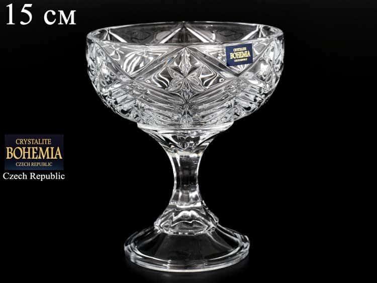 TAURUS Конфетница на ножке Crystalite Bohemia 15 см
