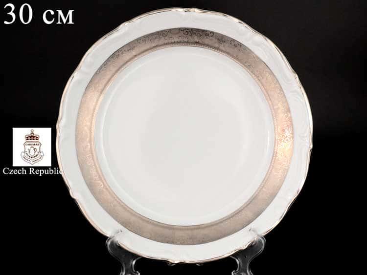 Мария Тереза Платиновая Полоса MT M-D Блюдо круглое Carlsbad 30 см