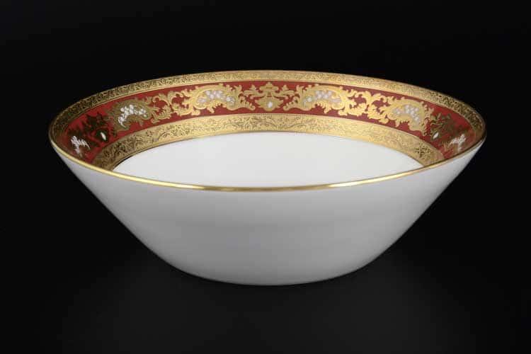 Alena 3D Bordeaux Gold Constanza Набор салатников 19 см Falken