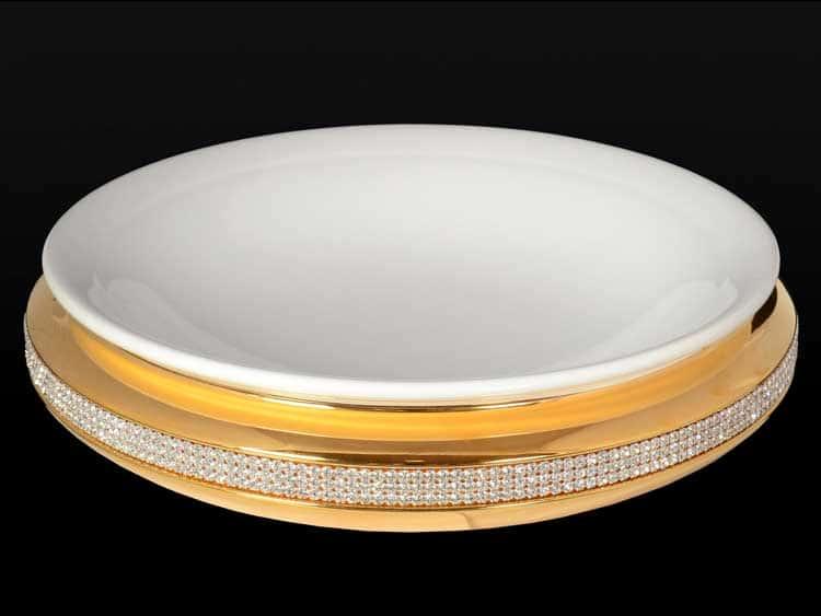Фруктовница Bruno Costenaro фарфоровая с кристаллами