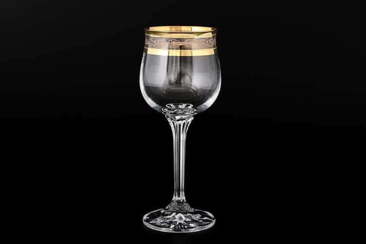 Диана QP656 Набор бокалов для вина Bohemia Crystal 190 мл (6 шт)