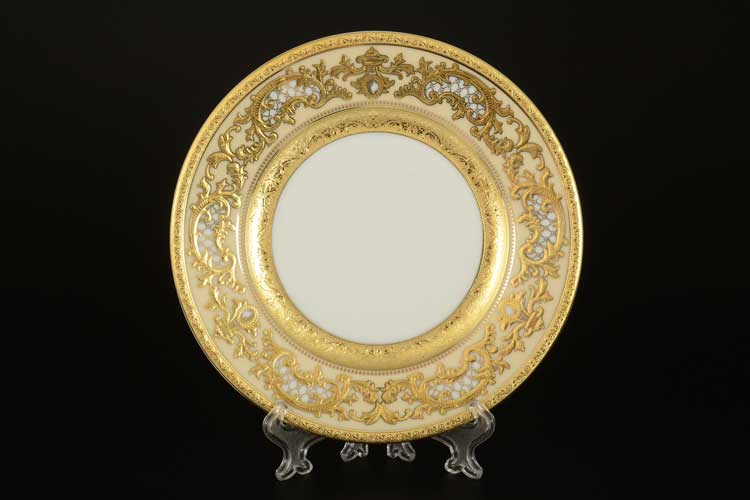 Alena 3D Creme Gold Constanza Набор тарелок Falken 17 см (6 шт