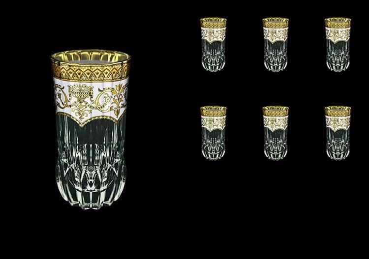 Версаче Глава Лаура Набор стаканов Astra Gold 6 шт 400 мл белый