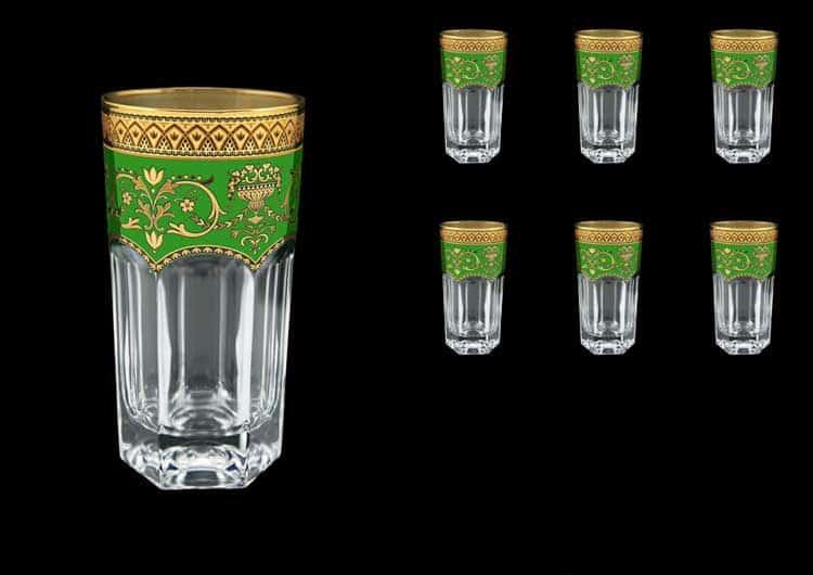 Версаче Глава Лаура Набор стаканов Astra Gold 6 шт 370 мл зеленый