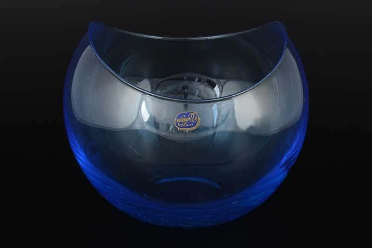 Gondola Кристалекс Ваза голубая Bohemia Crystal 16х19 см