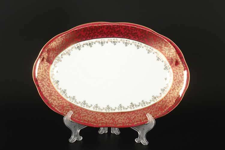 Красная паутинка б/т AL Блюдо овальное 32 см Royal Porcelain