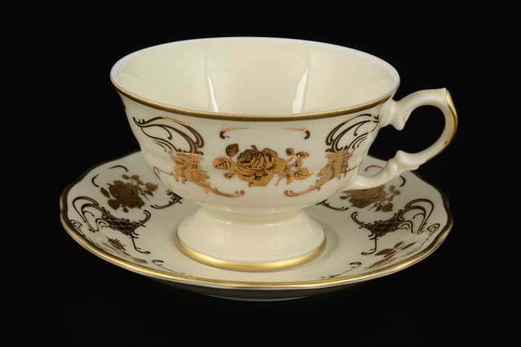 Royal Porcelain Набор чайных пар 250 мл (6 пар) слоновая кость