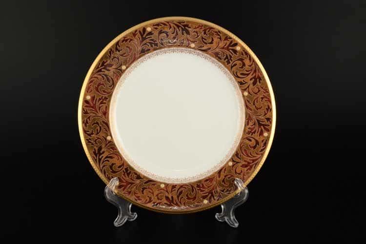 Ксавье золото Набор 6 тарелок Норитаке 22 см