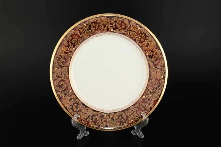 Акцент Ксавье золото Набор 6 тарелок Noritake 23 см