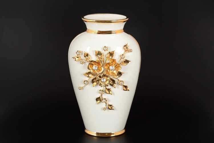 Цветы Ваза для цветов Bruno Costenaro с кристаллами с золотом d-20, h-32 см