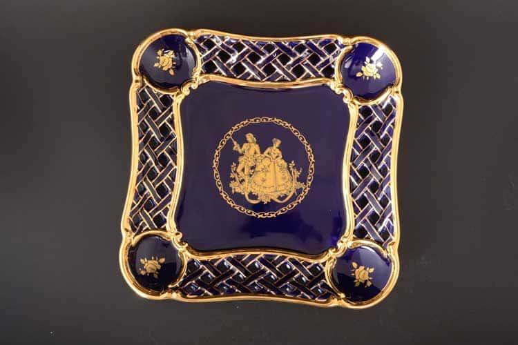 Блюдо квадратное Bruno Costenaro синее