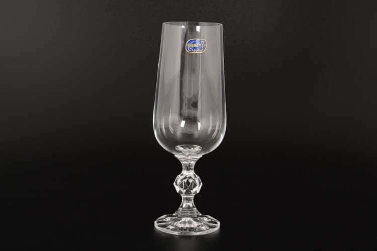 Клаудиа без декора Набор для шампанского Bohemia Crystal 280 мл (6 шт) 15115