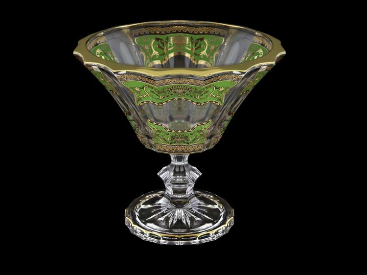 Версаче Глава Лаура зеленая Конфетница 15,5 см Astra Gold