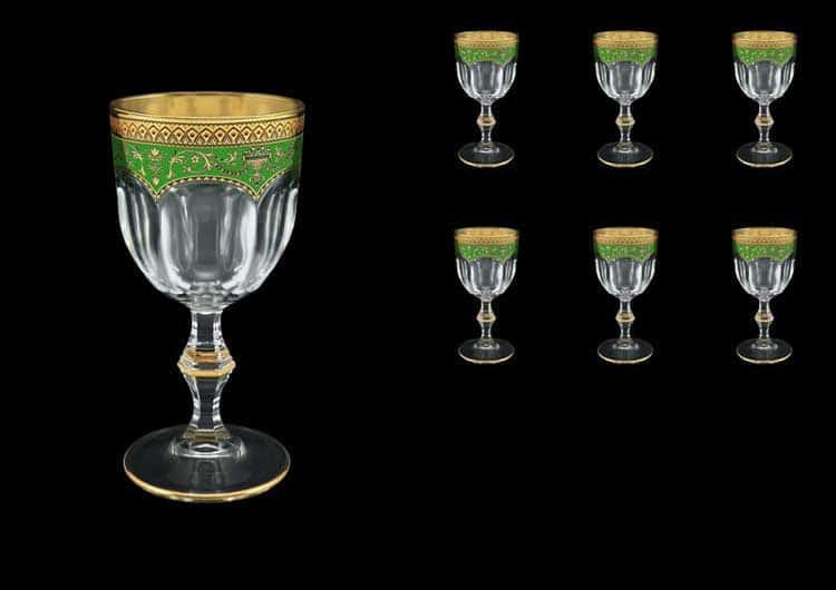 Версаче Глава Лаура зеленая Набор фужеров для вина 6 шт 170 мл Astra Gold