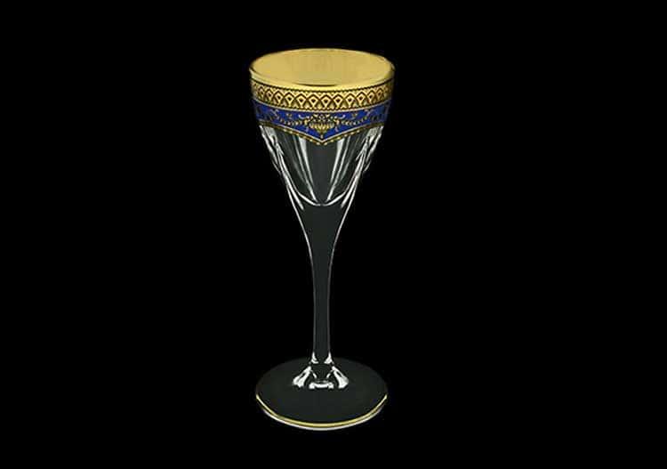 Версаче Глава Лаура синяя Набор рюмок для водки 6 шт 70 мл Astra Gold