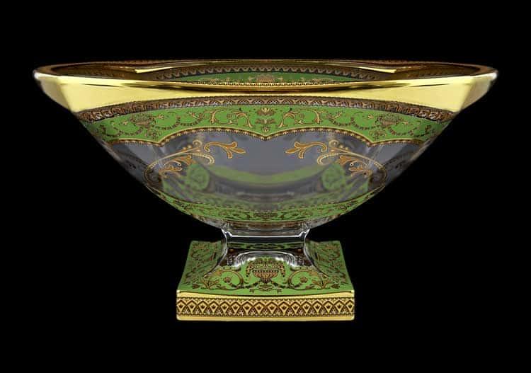 Версаче Глава Лаура зеленая Фруктовница 34 см Astra Gold