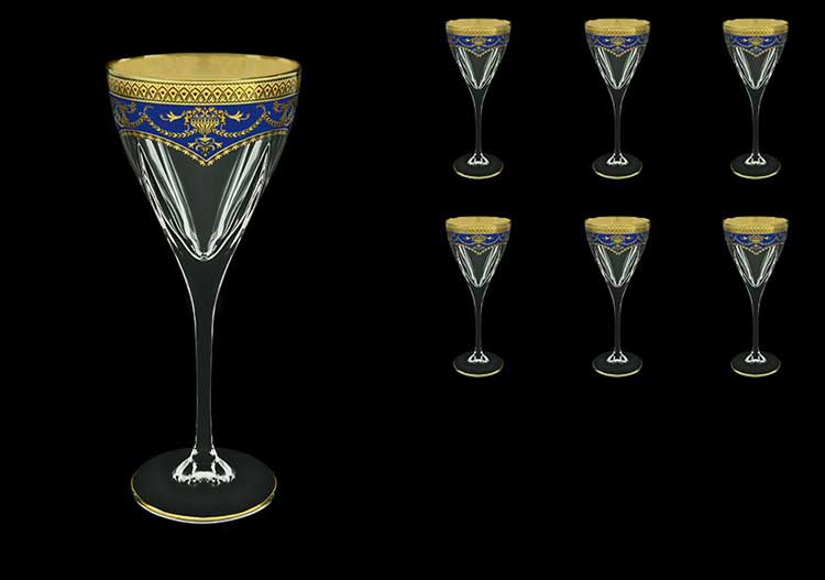 Версаче Глава Лаура синяя Набор для вина 6 шт 250 мл Astra Gold