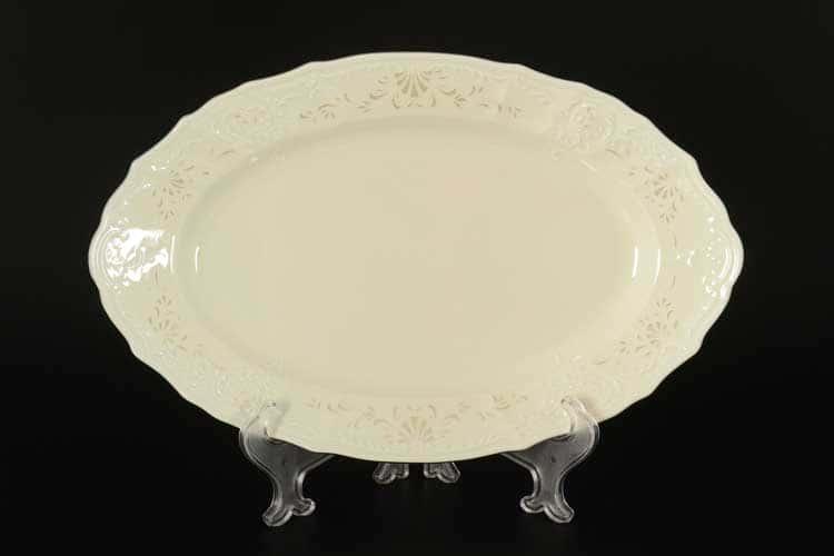 Бернадотт Платиновый узор BE-IVORY 3632021 Блюдо овальное 34 см