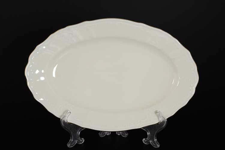 Бернадотт Белый узор BE-IVORY 311011 Блюдо овальное 26 см