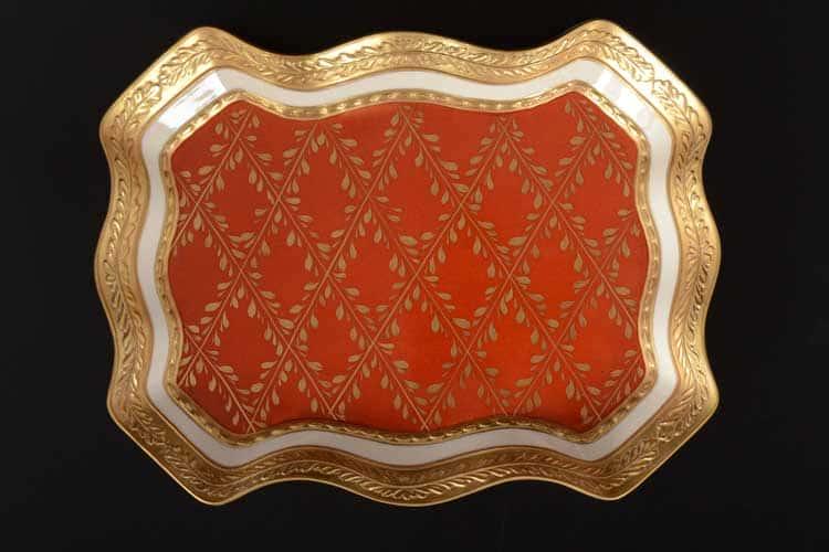 Cattin красный Блюдо прямоугольное 27 см