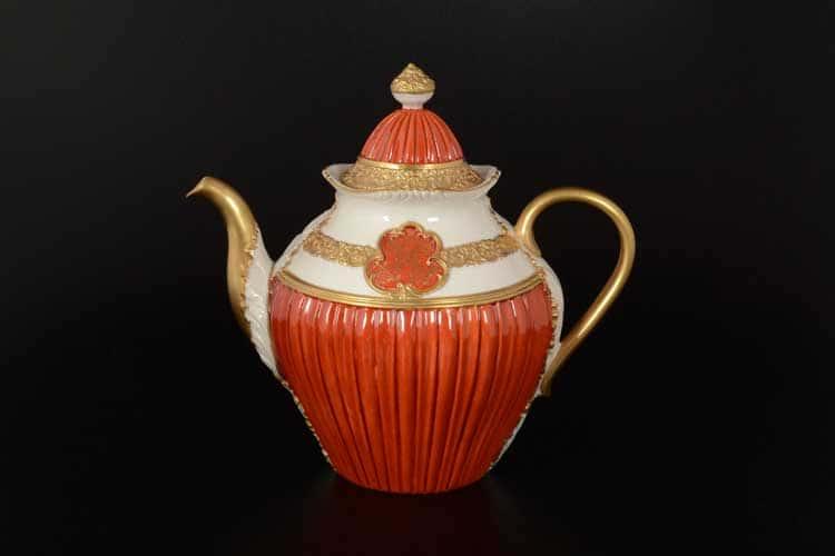 CATTIN красный Чайник из фарфора