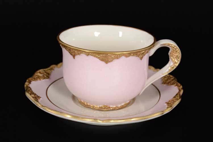 CATTIN розовый Набор чайных пар (1 пара ) из фарфора