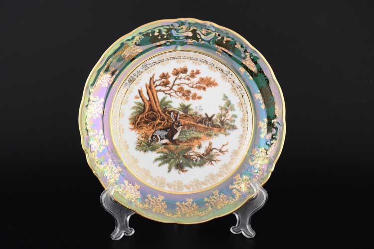 Фредерика Охота Зеленая Набор тарелок 24 см  Roman Lidicky