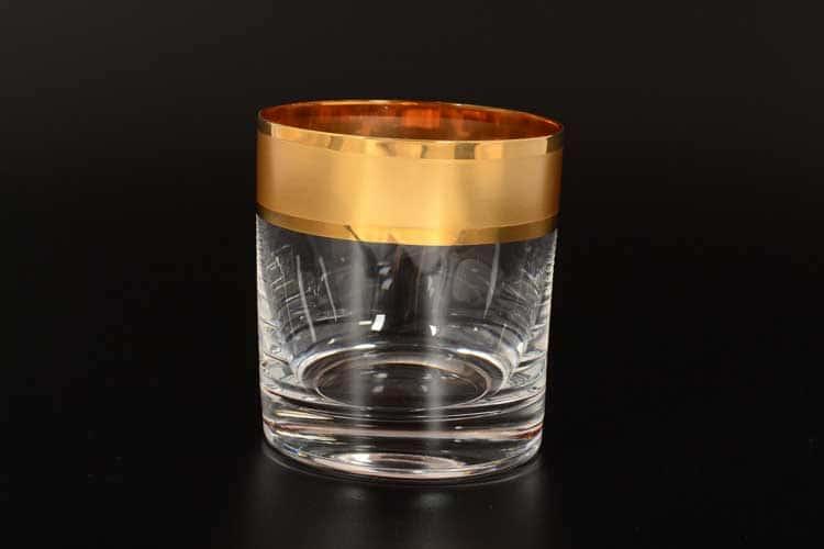 Матовая полоса R-G Набор стаканов для виски 280 мл Bohemia (2 шт)