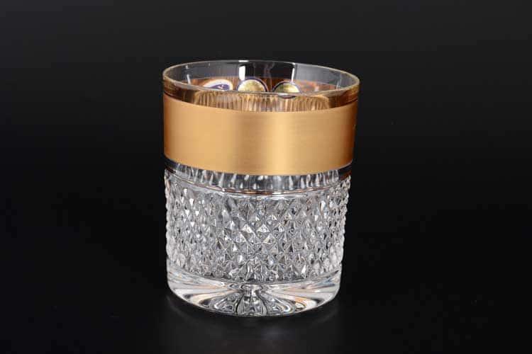 Max Crystal Золото Набор стаканов для воды 320 мл (6 шт.)