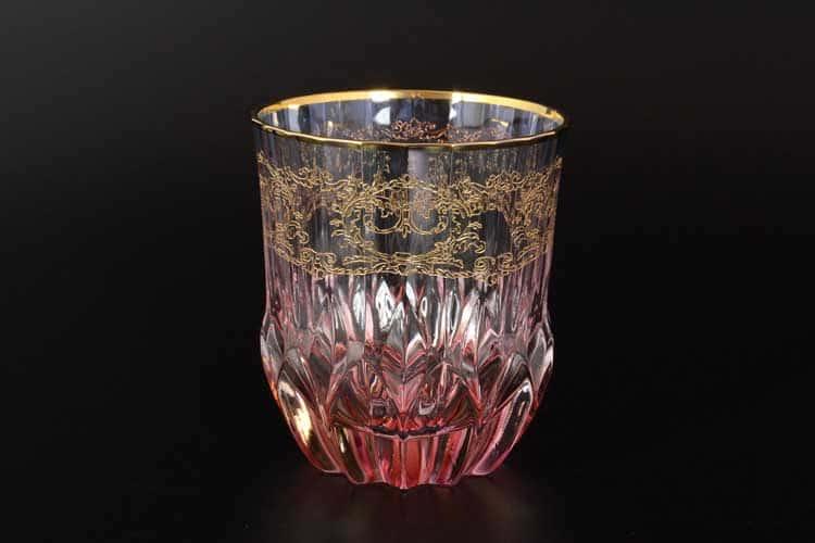 TIMON красный Набор стаканов для виски из хрусталя Италия