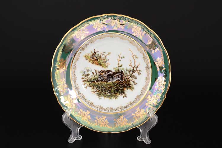 Фредерика Охота Зеленая Набор тарелок глубоких Roman Lidicky 23 см