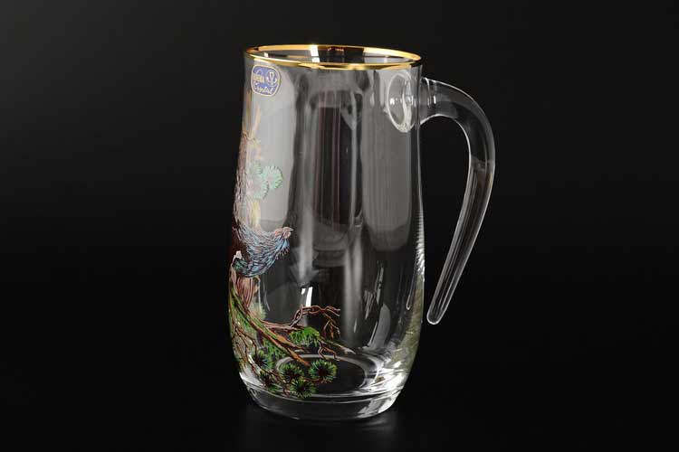 Охота Анжела Панто Кружка для пива с ручкой Bohemia Crystal 560 мл