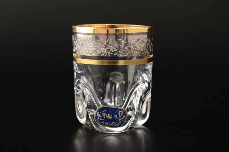 Идеал Панто платина Кристалекс Набор стопок для водки 60 мл (6 шт) на ножках