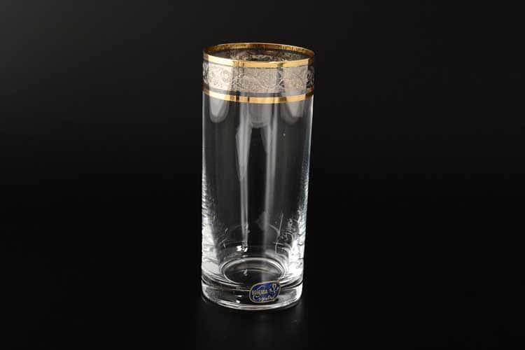 Идеал Панто платина Кристалекс Набор стаканов для воды 300 мл (6 шт)