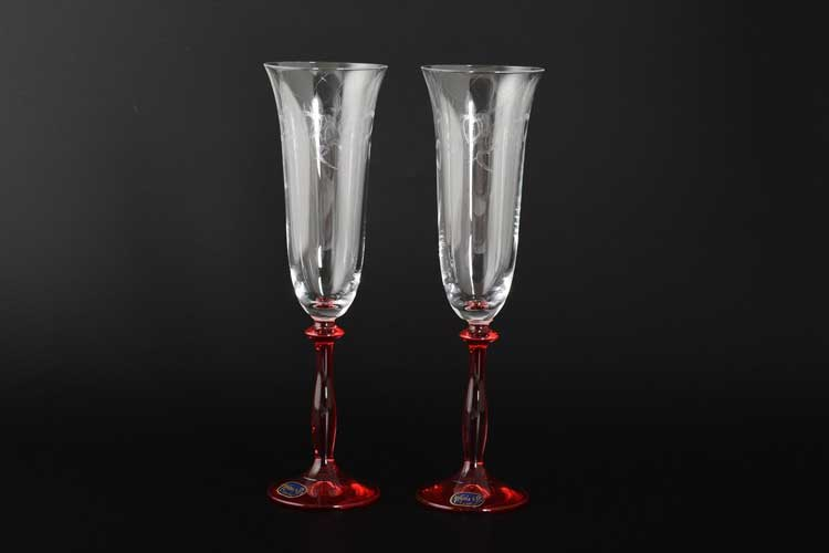 Анжела Свадебные Набор фужеров для шампанского 180 мл Bohemia crystal (2 шт)