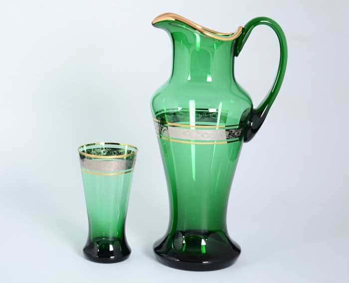 Клаудиа платина зеленый Набор для воды иксовка 7 предметов