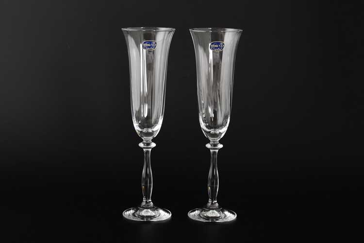 40600 Набор бокалов для шампанского Bohemia Crystal 190 мл (2 шт)