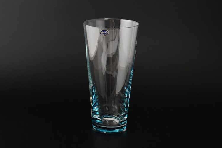 Кристалекс Ваза для цветов Bohemia Crystal 25 см синяя