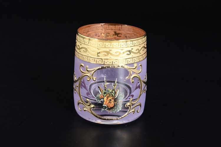 Охота розовая Версачe B-G Набор стопок для водки 60 мл Balvinglass (6 шт)