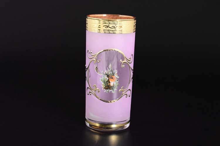 Версаче Охота розовая B-G Набор стаканов для воды (6 шт)