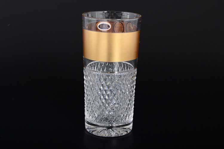 Max Crystal Золото матовый Набор стаканов для воды 350 мл (6 шт.)