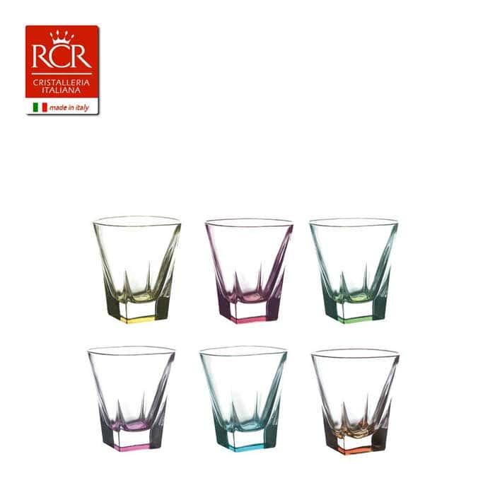 FUSION RCR Style Набор стопок для водки цветные