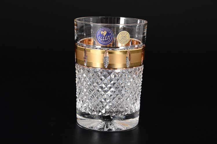 Матовая Набор стаканов для воды 180 мл CRYSTAL HEART