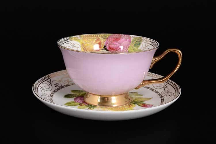 Радуга Pink Набор чайных пар 6 шт Royal Classics