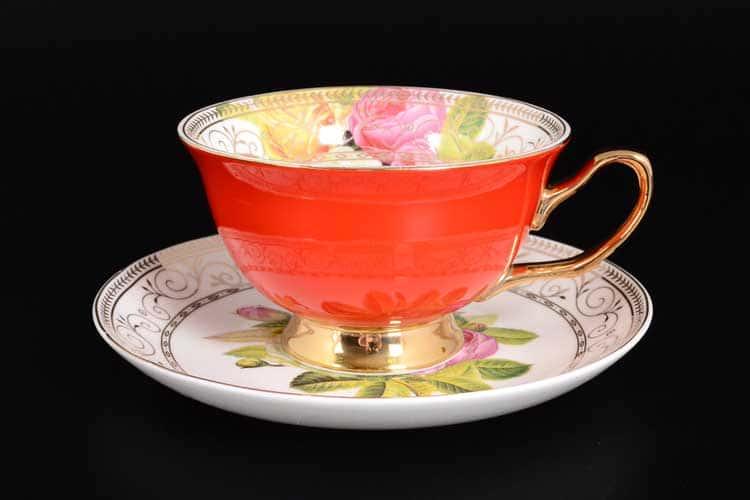 Радуга Red Набор чайных пар 6 шт Royal Classics
