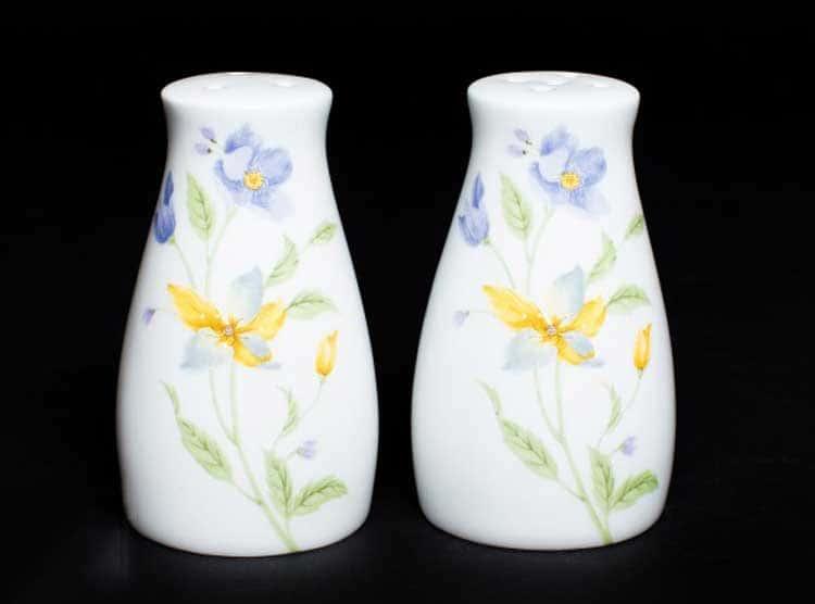 Сиреневый цветок Набор для специй, костяной фарфор Rulanda