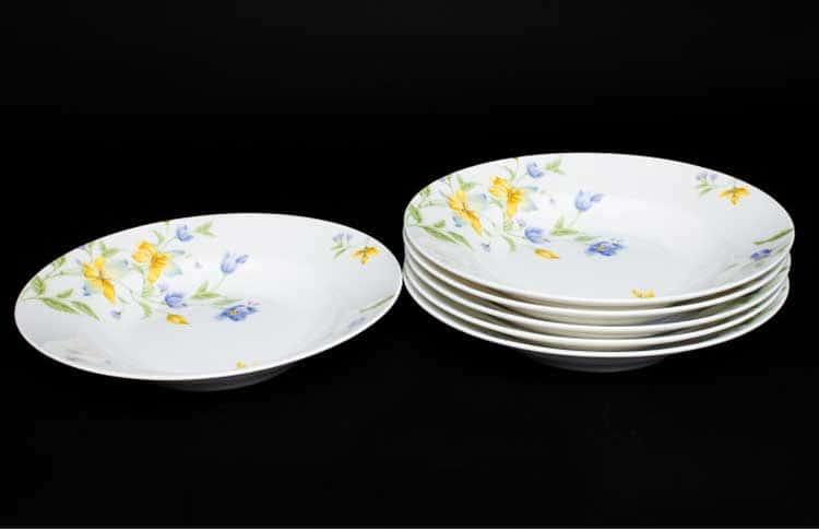 Сиреневый цветок Набор тарелок Руланда 6 шт. 23 см (суп)