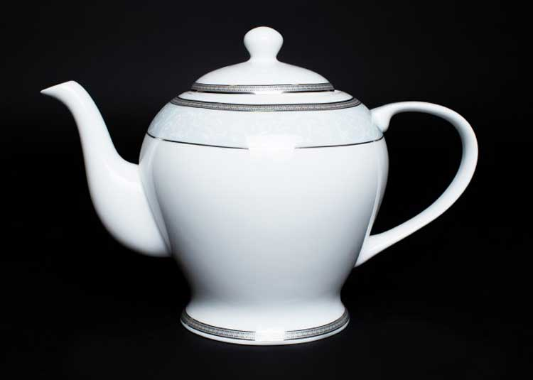 Узор Чайник из костяного фарфора 1 литр Rulanda