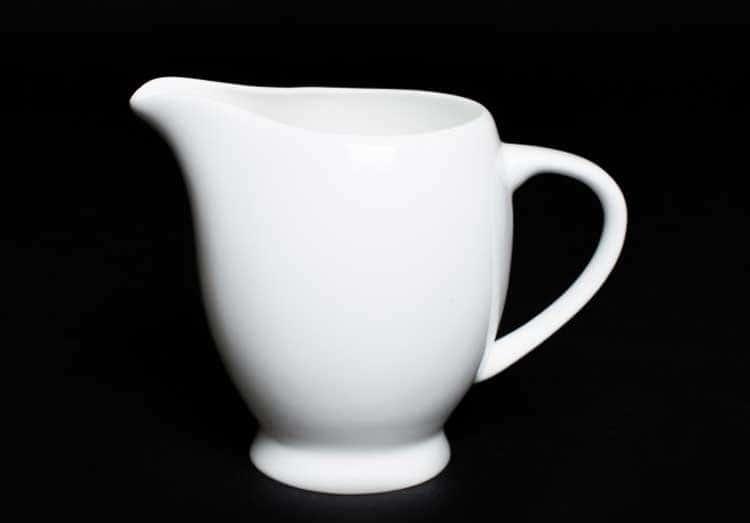 Белый Молочник 10 см из костяного фарфора Rulanda