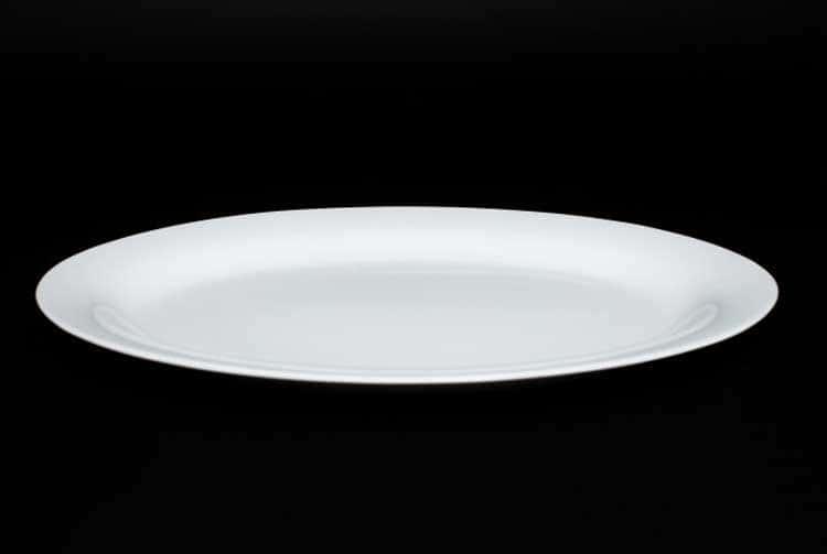 Белый Овальное блюдо 30 см костяной фарфор Rulanda